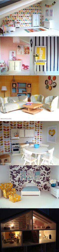 Modern Dolls' House by domesticblissnz via bellebebes #Dollhouse