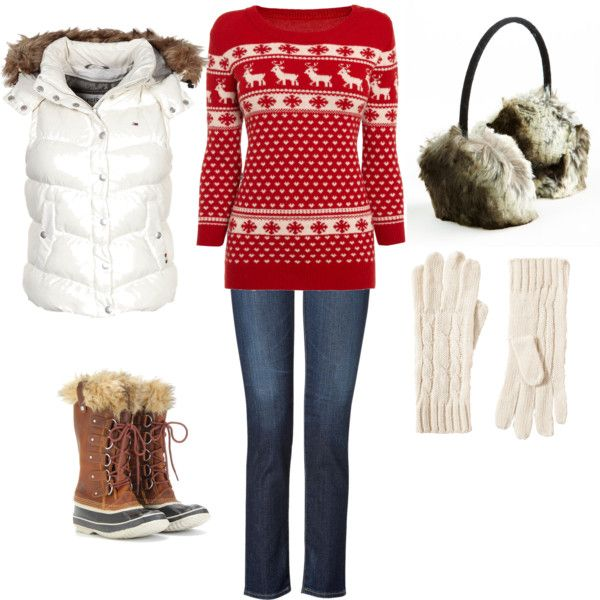 """Ski Lodge Look"" by christine-szudzik ❤ liked on Polyvore"