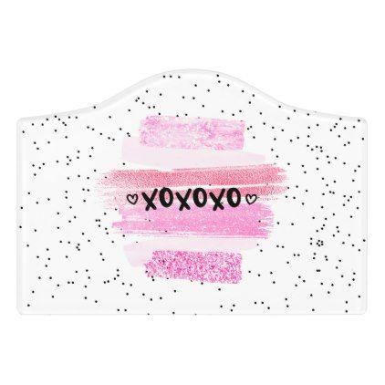 xoxoxo door sign  $14.14  by StarlightDesignsML  - cyo customize personalize unique diy idea