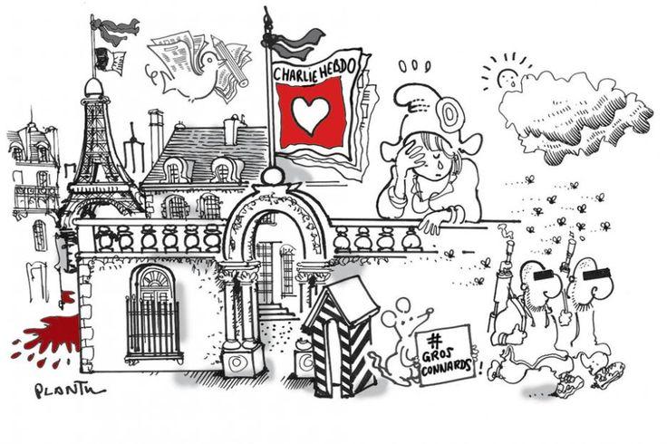 Un dessin pour Charlie :  Plantu http://www.mediapart.fr/portfolios/du-monde-entier-pour-charlie-hebdo