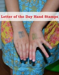Letter of the Day Hand Stamps - Playdough To Plato
