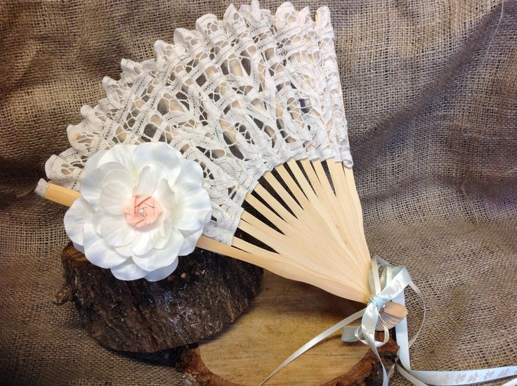 Bespoke customised hand fan from Lilly Dilly's X #wedding #accessories #props #lace #flower #bride #bridesmaids #bespoke #customised #lilly dillys