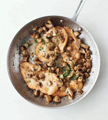 Chicken with Sautéed Mushrooms by Martha Stewart - make with gf flour
