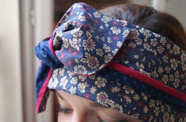 DIY bandeau cache-oreilles matelassé pour l'Hiver en tissu Frou-Frou