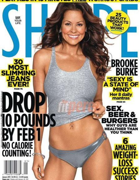 Brooke Burke....Age 40 and mother of 4. In shape, healthy and not super skinny.