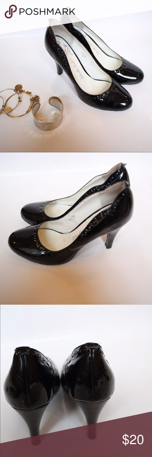 Gabriella Rocha Black Pumps Traditional shiny black pumps with stitching perfect for dressing up an outfit Gabriella Rocha Shoes Heels
