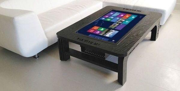 Une table basse tactile et connectée…