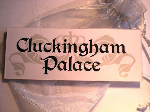 Cluckingham Palace Sign Plaque Chicken Hen Coop Run Egg Bantam House Garden Gift | eBay