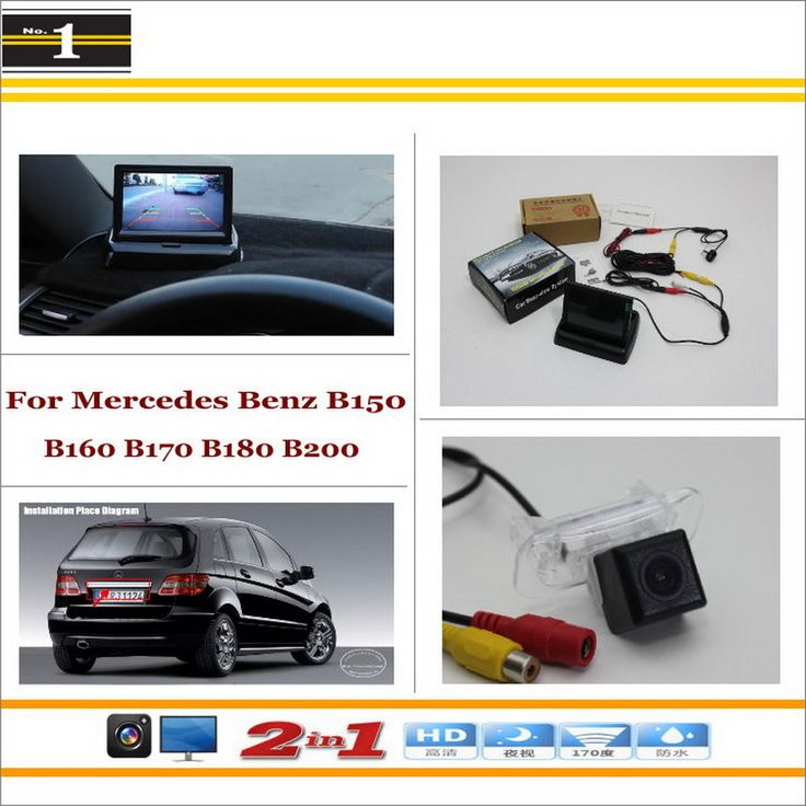 "Car Backup Rear Camera + 4.3"" TFT LCD Screen = 2 in 1 Rearview Parking System - For Mercedes Benz B150 B160 B170 B180 B200"