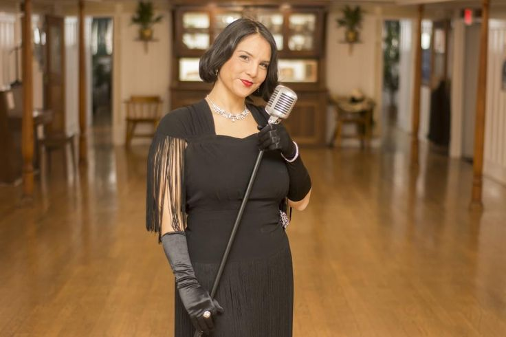 Yanti practices her vocals ahead of the Great Gatsby party at the SS Sicamous (2016).  Photos were taken by Callium Smith, a photographer based in Naramata BC