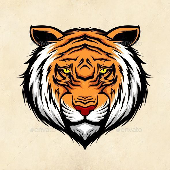 Tiger Head - Animals Characters