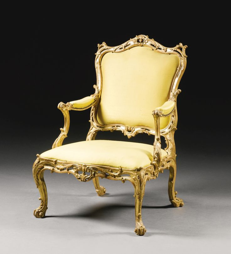 A George III Giltwood Armchair Circa Attributed To William Gomm