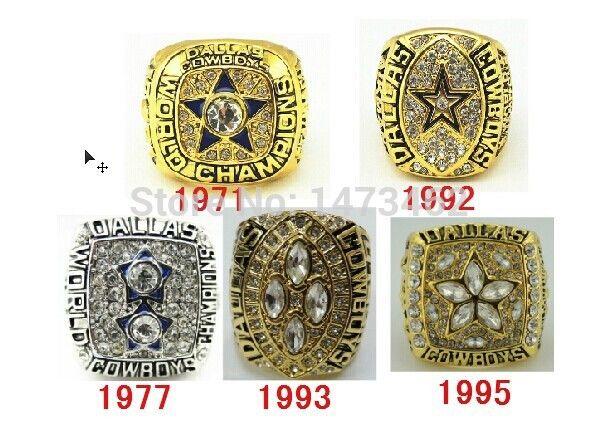 On Sale  1971 1977 1992 1993 1995 all Dallas Cowboys Super Bowl replic championship rings Size 11 #Affiliate