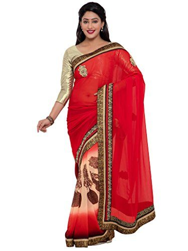 Indian Women red color georgette sari INDIAN WOMEN http://www.amazon.in/dp/B01NBNK9Q6/ref=cm_sw_r_pi_dp_x_Cz4Byb1G5TCBT
