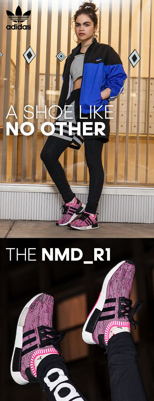 The NMD_R1 Primeknit shoes take adidas' newest running technologies and blend them with cutting edge streetwear. Featuring innovative boost™ cushioning on the entire midsole for endless energy return, as well as Molded EVA plugs that give the shoe an unmistakable look, these shoes turn heads everywhere you go.