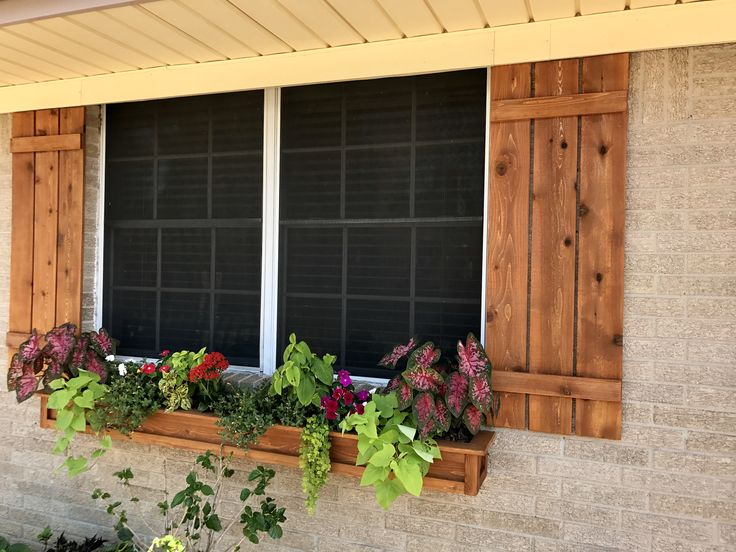 Shutters And Window Box Made From Cedar Fence Pickets
