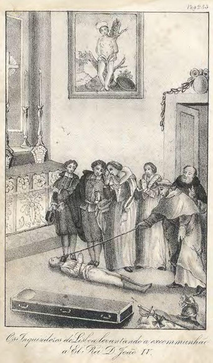 Os Inquisidores de Lisboa levantando a excomunhão a El-Rei D. João IV, exumado - GEO, Colecção Vieira da Silva.png