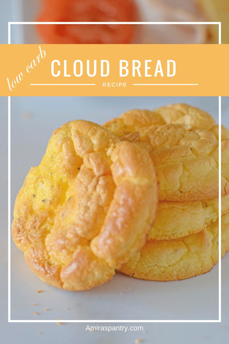 Cloud bread is a low carb, very light and fluffy bread alternative. Works perfectly in any situation and with little imagination ,you can go wild with it. The Best Cloud Bread Recipe #lowcarb #glutenfree #grainfree |amiraspantry.com
