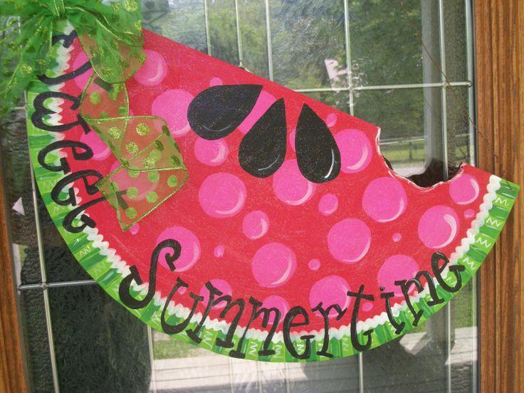 17 Best Images About Watermelon Door Hangers On Pinterest