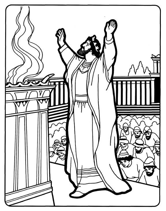 It is a graphic of Intrepid solomon's temple coloring page