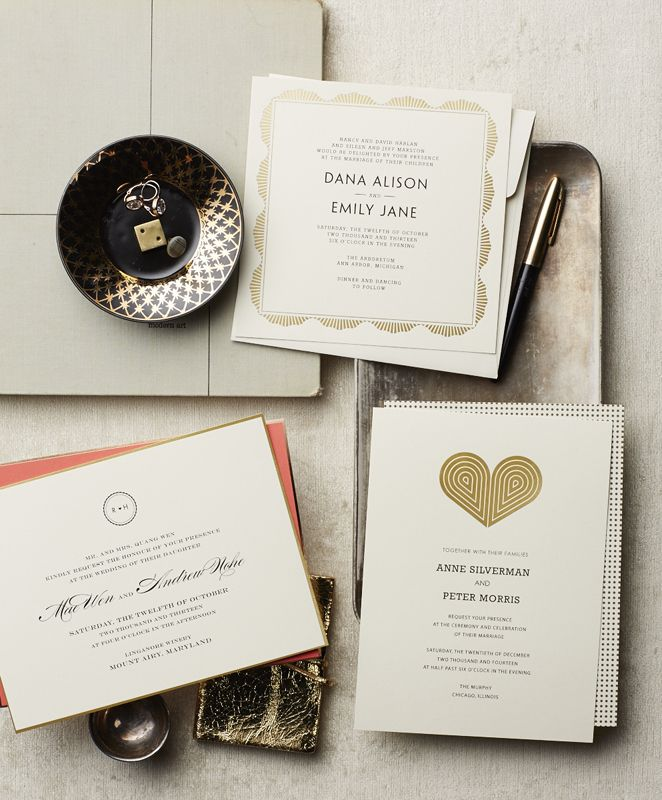 Introducing beautiful wedding stationery from Real Simple.