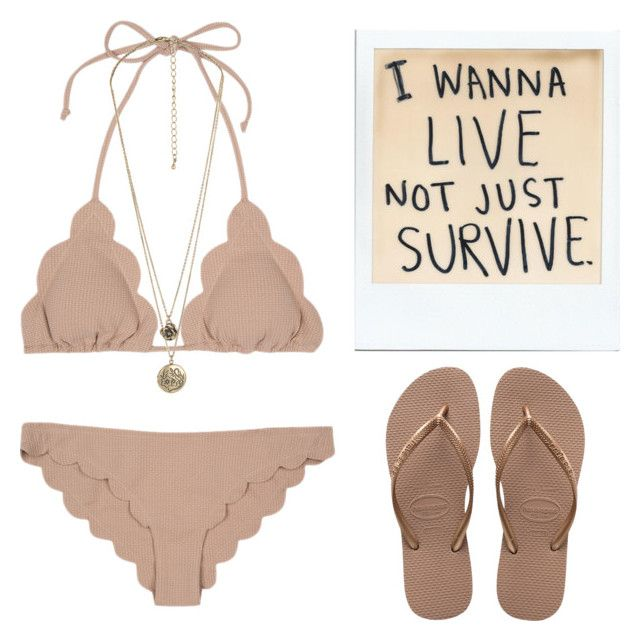 """""""survive to summer!"""" by yepwheland ❤ liked on Polyvore featuring Forever 21, Havaianas, Summer, bikinis, 2017 and fashionthings"""