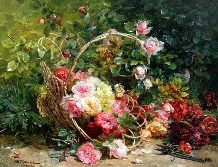 (101) Gallery.ru / Federico Olaria - Wysypane roze II-schemat do druku - himmelin