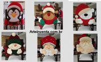 6  Moldes Para Capa para Cadeira de Natal