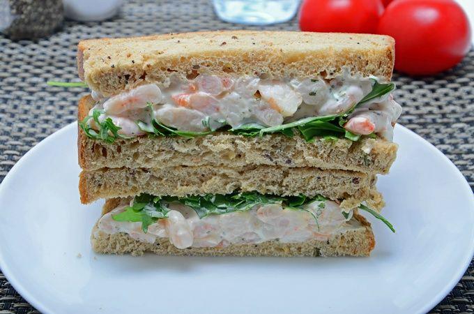 Recipe Garlic Prawn Sandwich