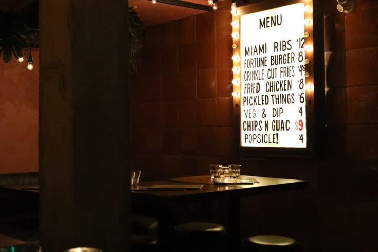 Good Fortune Bar: Menu