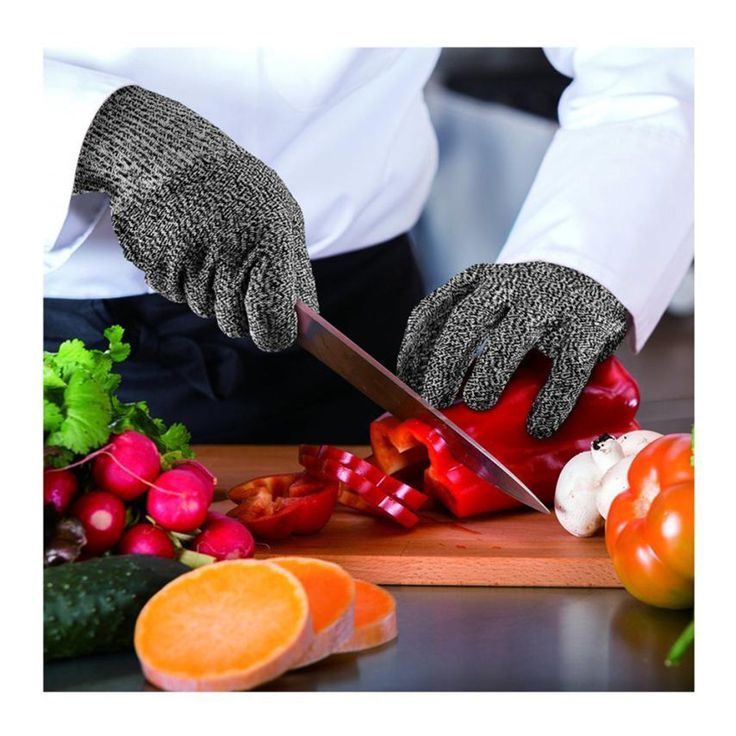 ISHOWTIENDA Microfiber microwave oven protective gloves cut heat resistant kitchen cut vegetables hand protection level 5. Click visit to buy #Bakeware