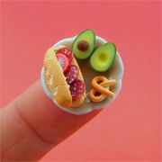 incredible miniaturized food sculptures by Shay Aaron