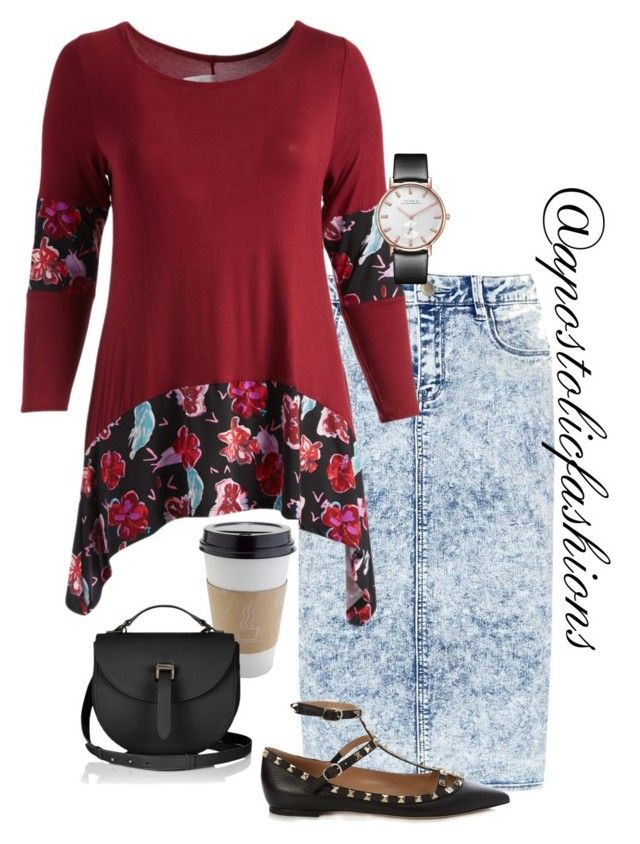 """Apostolic Fashions #1870"" by apostolicfashions on Polyvore featuring Valentino, OUTRAGE and plus size clothing"