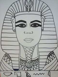 Once upon an Art Room: King Tutankhamen's Portrait