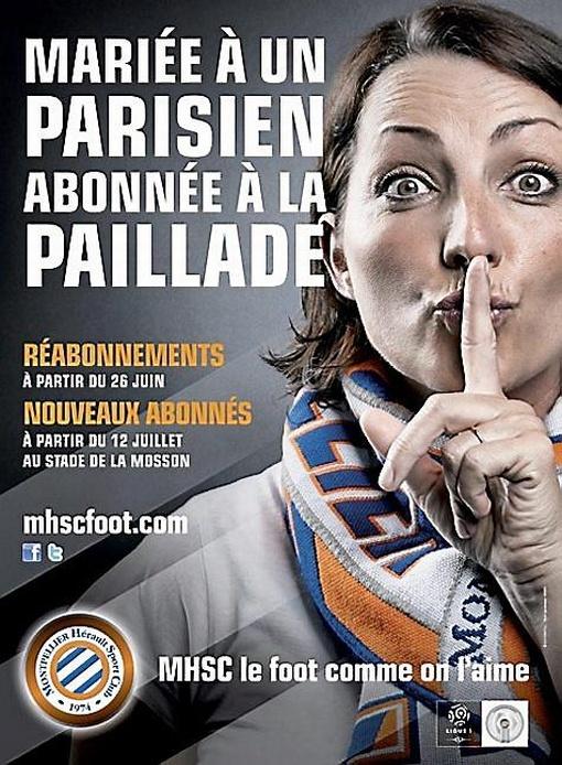 """""""Mariée à un parisien, abonnée à la Paillade"""" #MHSC 2012"""
