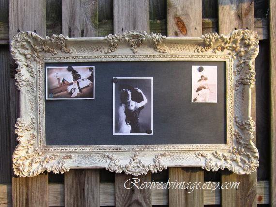 CHALK BOARD VICTORIAN Magnetic Framed Old World by RevivedVintage, $189.00   Magnetic ChalkboardFramed ChalkboardShabby Chic ...