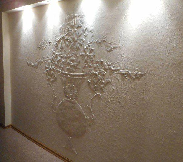 Красивые стены, барельеф, панно, ваза, цветы, декоративная штукатурка, штукатурка, шпаклёвка, клей пва, узор, картина, рисунок, эскиз, искусство, декор, стена, краски, ремонт. Beautiful walls, bas-relief panels, vase, flowers, decorative plaster, stucco, plaster, PVA glue, design, painting, drawing, sketch, art, decor, wall, paint, repair