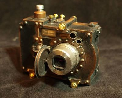 Steampunk Pocket Digital Camera Case by Herr Döktor