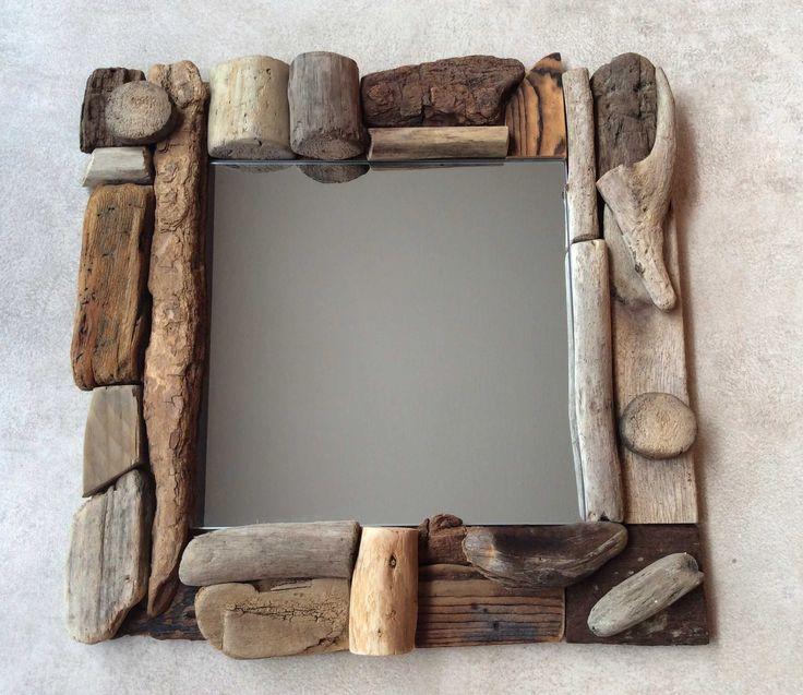 Plus de 25 id es uniques dans la cat gorie miroir en bois flott sur pinterest miroir bois - Miroir en bois flotte ...