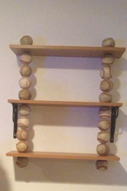 My DIY Baseball Shelf!! Comment For Directions.