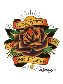Ed Hardy Dedicated To The One I Love Temporary Tattoo