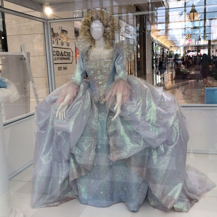 Disney's Cinderella (2015) Helena Bonham Carter's gorgeous fairy Godmother costume on display.