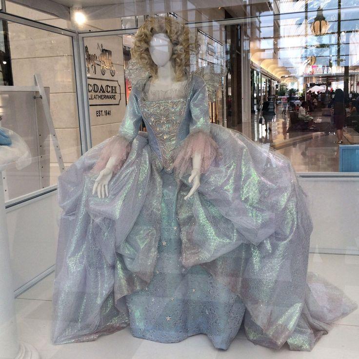 Disney's Cinderella (2015) Helena Bonham Carter's gorgeous fairy Godmother costume on display.