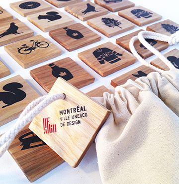 Jeu de mémoire éco-responsable conçu tout spécialement pour les petits (et grands) amoureux de Montréal par la designer montréalaise Isabelle Aubut. / Memory game by Montreal designer Isabelle Aubut. http://c2m.tl/1qZYH0q   #C2MTL #Montreal #craft #design