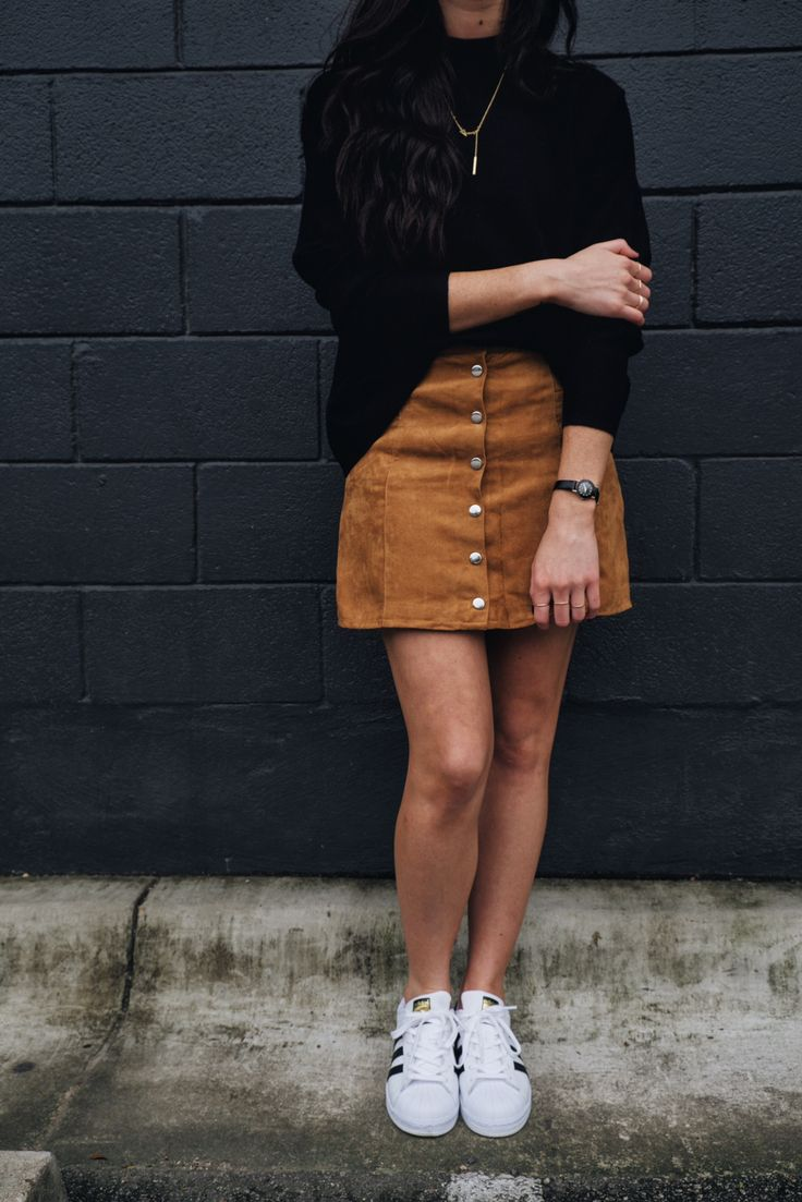 5 ways to style a suede skirt