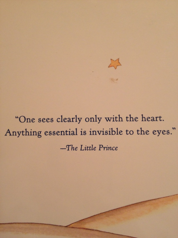The Little Prince by Antoine de Saint-Exupéry - wonder if Antoine knew this was straight from Scripture...