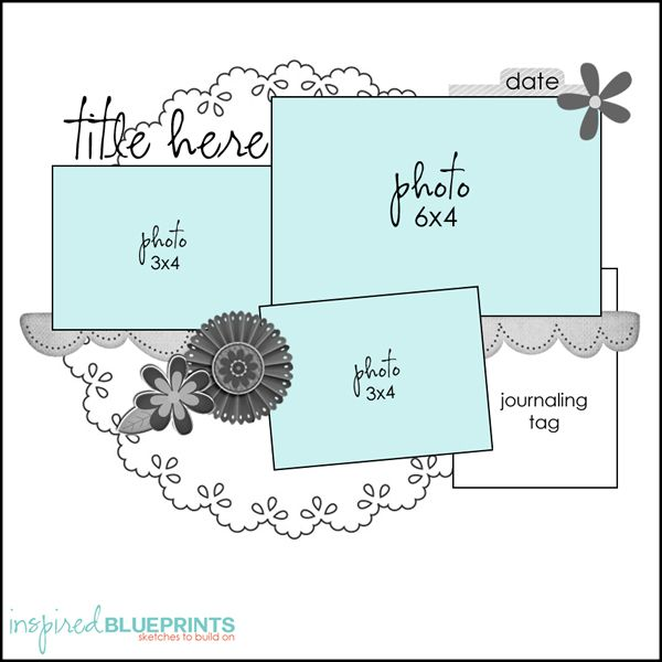 Inspired Blueprints | Sketch 88 #inspiredblueprints #scrapbooking #sketch