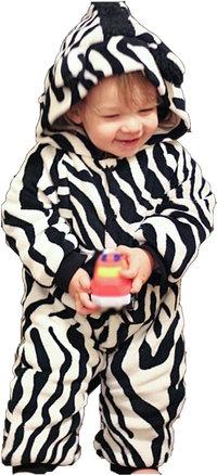Cute Zebra Baby Pram Suit - Snowsuit- Funky Baby Clothes Boutique