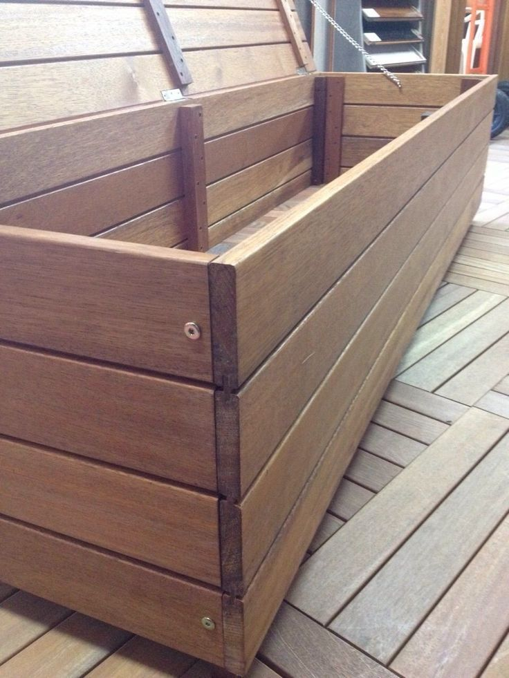 Merbau 2 In 1 Storage Bench Outdoor Set In Nsw Ebay In 2020 Sitzbank Mit Stauraum Storage Bench Seating Sitztruhe