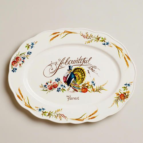 I need this, so cute!  Turkey Oval Platter